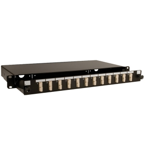 S07 1U Black Sliding Patch Panel – 12 Position SC duplex up to 24 fibres Datasheet
