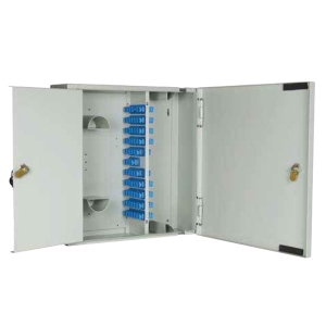 W07 - Lockable 72 Position SC/LC/E2000 MTRJ Double Door Wall Box