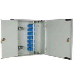 W08 - Lockable 48 Position SC Duplex/ LC QUAD Double Door Wall Box